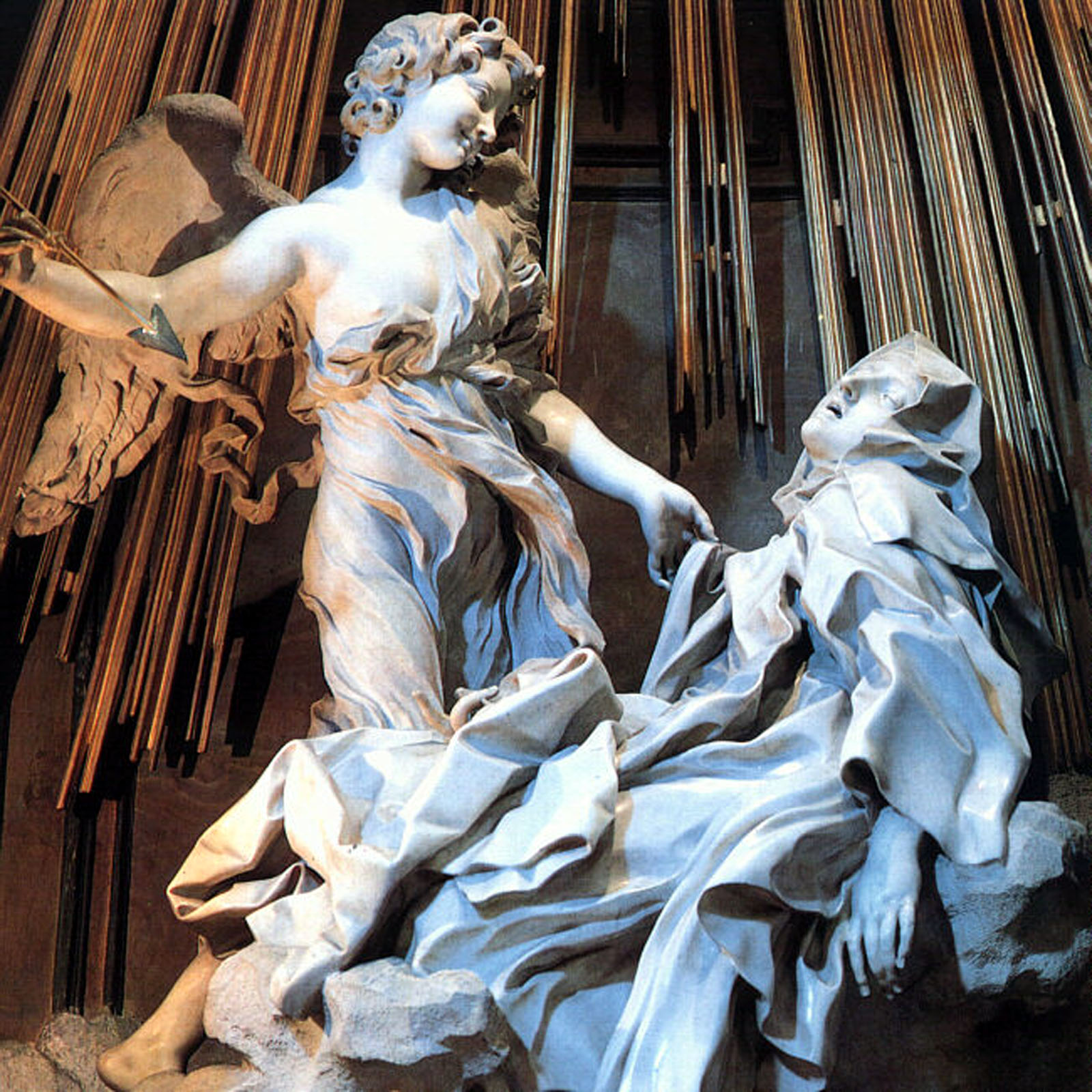St. Teresa of Avila sculpture in Santa Maria della Vittoria, Rome
